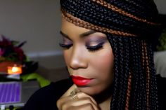 Valentine's Day makeup inspiration #innerbeautyout follow her on Instagram @innerbeautyoutel and YouTube InnerBeautyOut for tutorials and more.  For bookings email: InnerBeautyOutEL@gmail.com Instagram: InnerBeautyOutEL  #redlips #blackwoman #smokeyeyes #darkskinnedmakeup