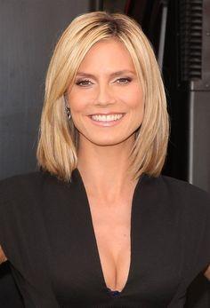 medium length hair fine straight middle age - Google Search