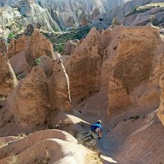 #tbt to the May issue 2008: Pro mountain biker @dberrecloth turned the surreal landscapes of Turkeys Cappadocia region into his personal playground. The way the rocks and the spires were formed it was like a luge course says Lucas Kane a Seattle photographer. Darren rode as if water would flow through there. Kane Berrecloth and a team of riders were in Turkey to shoot scenes for their film New World Order VII. There are old caves where people lived thousands of years ago Kane says. Wed take…