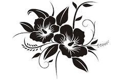 TDT Printing & Custom Decals Hawaiian Flower Vinyl Decal Sticker for Car or Truck Windows, Laptops e Stencil Patterns, Stencil Designs, Paint Designs, Custom Window Decals, Vinyl Decals, Art Floral, Drawing Stencils, Hawaiian Flowers, Flower Art