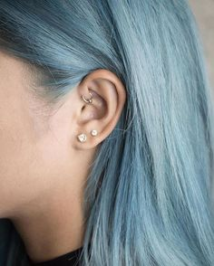 Blue hair and don't care ✌🏼 Hair Inspo, Hair Inspiration, Corte Y Color, Coloured Hair, Dye My Hair, Grunge Hair, Rainbow Hair, Cool Hair Color, Pretty Hairstyles