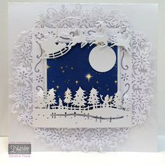 These are the latest cards I've made for the Die'sire design team using the beautiful Christmas Edge'ables launched on the 17th August.    ...