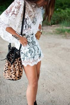 lace overlay over black dress