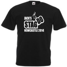 Personalised stag do design t shirt. Stag do weekend idea