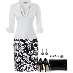 A fashion look from July 2015 featuring Pinup Couture blouses, Morgan skirts y D&G pumps. Browse and shop related looks.