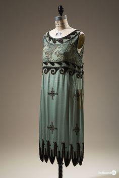 "Unlicensed copy of Madeleine Vionnet's ""Little Horses"" dresses, beaded rayon, c 1925"