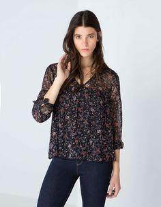 Bershka print blouse - NEW COLLECTION - Bershka United Kingdom