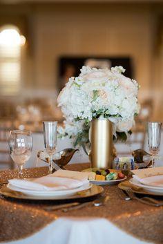 Gorgeous Hydrangea & Rose Centerpiece | Bethany Walter Photography