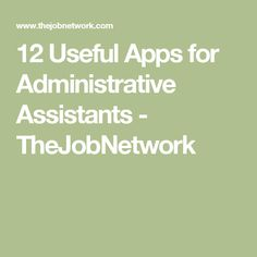 Here are the most useful apps for busy administrative assistants. Some of these are free and some are paid. Administrative Assistant Resume, Administrative Professional, Virtual Assistant Apps, To Do App, Office Admin, Business Major, Business Ideas, Work Goals, Teacher Assistant
