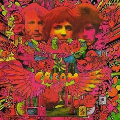 Cream: Disraeli Gears album cover.  Just thinking that the 70s and their psychadelic rock bands had some awesome horror vacui covers.  The artwork is the reason i kind of lament the advent of the mp3. ( but obviously love the convenience)