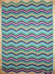 Faded-Ripple-Free-Crochet-Pattern-Baby-Blanket-Chunky-Weight-Yarn by JessieAtHome, via Flickr