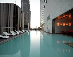 Rooftop pool at the Standard Hotel