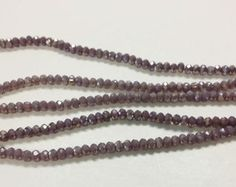 130 2x3mm purple AB glass beads for jewelry making, small faceted beads, loose beads, green faceted beads, rondelle beads, r13 by vickysjewelrysupply. Explore more products on http://vickysjewelrysupply.etsy.com