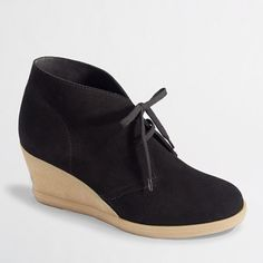 Factory suede lace-up wedge boots - Heels & Wedges - FactoryWomen's Shoes - J.Crew Factory