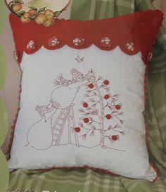 420 Trim the Tree Pattern by Crabapple Hill Hand Embroidery Pillow Pattern