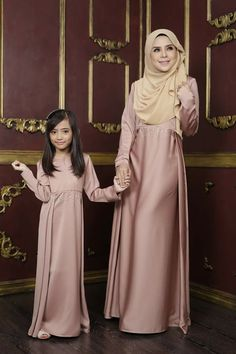 """Mommy and I are dressed up in pink. Abaya Fashion, Muslim Fashion, Modest Fashion, Fashion Dresses, Mommy Daughter Dresses, Mother Daughter Fashion, Muslim Dress, Hijab Dress, Dress Outfits"