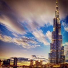 Burj Khalifa -- tallest man-made structure in the world (163 floors), Dubai, UAE
