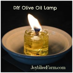 DIY Olive Oil Lamp, the lost art you need to know