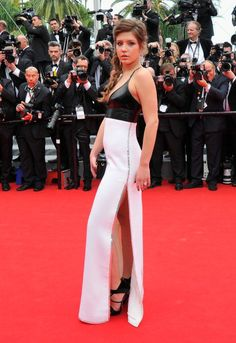 Adele Exarchopoulos strikes a pose during the 67th Annual Cannes Film Festival in France.
