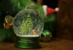 "The Queen's 2016 Limited Edition snow globe ""WinterGreen"" - 50 available world-wide now at http://www.queenofsnowglobes.com/wintergreen-snow-globe/"