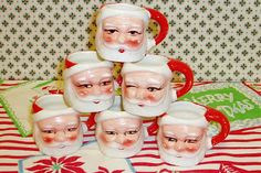During the 1950s, Holt-Howard started designing Santa Claus coffee mugs and pitchers.  The company was started by John and Robert Howard and their friend, Grant Holt.  They were college students at the time and started their company with a $9,000 loan from their families.