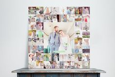 A wedding photo collage. Send your photos to Faville Photo and we will create the collage for you! Canvas Collage, Wall Collage, Wall Art, Canvas Prints, Family Collage, Wall Decor, Canvas Board, Family Pics, Diy Wall