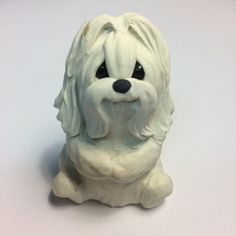 Maltese+Dog+Sculpture+Polymer+Clay+MALTESE+Mini+by+by+theWRC