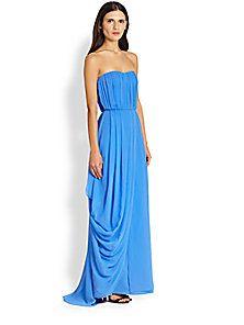 Alice + Olivia - Waldorf Strapless Stretch-Silk Gown