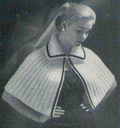 but with rounded collar Best Free Crochet » Little Capelet Throw - free vintage pattern