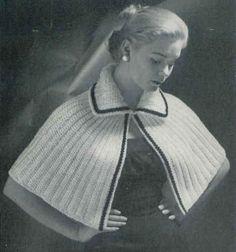 Best Free Crochet » Little Capelet Throw - free vintage pattern