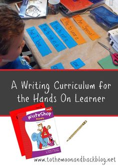 If you are looking for a writing curriculum for a hands on learner, take a moment to check out this review of Write Shop. It's a fantastic homeschool creative writing curriculum that is great for the wiggly child!