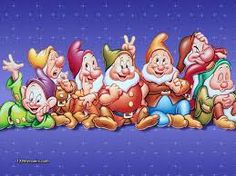 This is the 7 dwarfes! let me try to name them...Dopey,sleepy,clumsy,bashful,happy, sneezy,doc