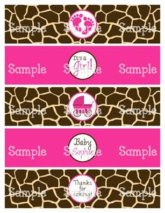 Printable MM Cheetah Black W Purple Water Bottle Label Wraps