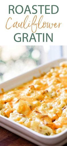 Rich and creamy cauliflower gratin is the perfect side dish for holidays or special dinners! Cheddar cheese sauce with cauliflower is so delicious! Cauliflower Gratin, Creamy Cauliflower, Roasted Cauliflower, Cauliflower Recipes, Most Pinned Recipes, Cheddar Cheese Sauce, Holiday Dinner, Fall Recipes, Macaroni And Cheese
