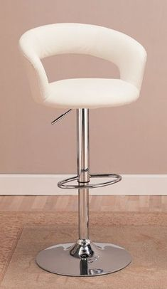 Contemporary Adjustable Height Bar Stool in White Leather like Vinyl with Chrome Finish Coaster Home Furnishings,http://www.amazon.com/dp/B005CJYYQ0/ref=cm_sw_r_pi_dp_Dbmutb0V0JBFFDXG
