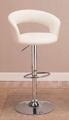 Contemporary Adjustable Height Bar Stool in White Leather like Vinyl with Chrome Finish Coaster Home Furnishings,http://www.amazon.com/dp/B005CJYYQ0/ref=cm_sw_r_pi_dp_Dbmutb0V0JBFFDXG