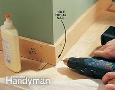 Interior Trim Work Basics - - All the trim basics-start to finish-plus a clever way to get those miters tight. Home Improvement Projects, Home Projects, The Family Handyman, Work Basics, Baseboard Trim, Baseboard Ideas, Baseboard Styles, Interior Door Trim, Trim Carpentry