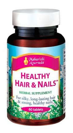 """Maharishi Ayurveda Healthy Hair and Nails, $39.95 The Ayurvedic apothecary contains herbs and spices used for healing, medicinal, and beautifying purposes for more than 5,000 years. A handful come together in this formula to address stress—such as Eclipta or false daisy (a detoxing liver tonic), Ashwagandha (an amazing adaptogen like turmeric), and Indian tinospora, a """"divine herb"""" used for all over well-being—which can wreak havoc on your youthfulness, like anyone working 12 hour days…"""