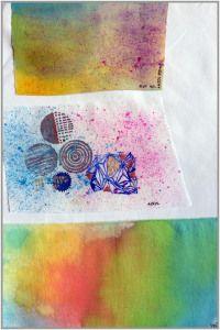 Tutorial zu Stoffdruck, Stofffarben und Stoff färben.