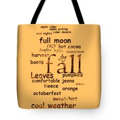 "What makes autumn special Tote Bag 18"" x 18"""
