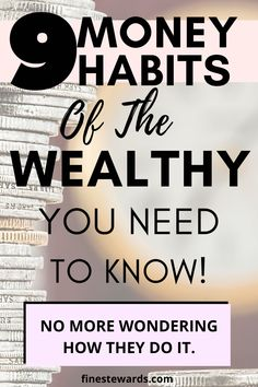 9 Money Habits Of The Wealthy You Need To Know - Fine Stewards Wealth Quotes, Wealthy Lifestyle, Money Quotes, Quotes Quotes, Manifesting Money, Wealth Creation, Friendship Day Quotes, New Beginning Quotes, Budgeting Finances