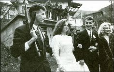 A David Turnley photo of a wedding in a war-torn Bosnia.