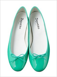 repetto turquoise flats