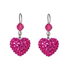 ICONIC CRYSTAL PAVÉ HEART DROP EARRINGS Tarina Tarantino, A Perfect Day, Pretty In Pink, Jewelery, Crochet Earrings, Sparkle, Drop Earrings, Crystals, My Style