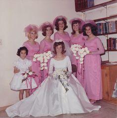1960's pink bridesmaid