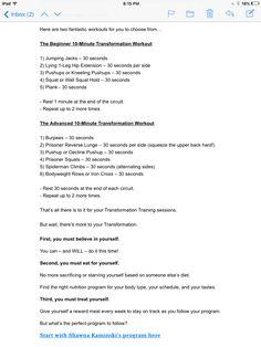 Craig Ballantyne-Beginner and Advanced 10-Minute Transformation Workout