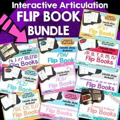 These articulation flip books are so easy to use!