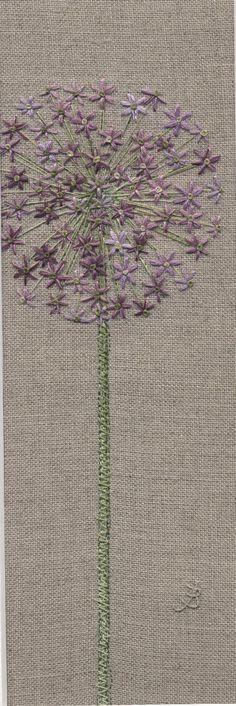 Jo Butcher, Embroidery Artist - Allium Head