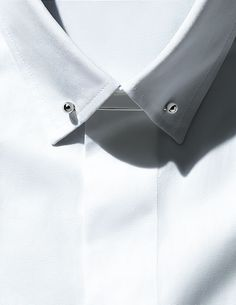 The Details Guide to Tailoring. Put a pin in it. Shirt and collar pin by Dior Homme. #menswear