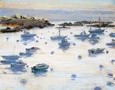 "Dawn at Tregastel by Ray Hassard Pastel ~ 9"" x 12"""
